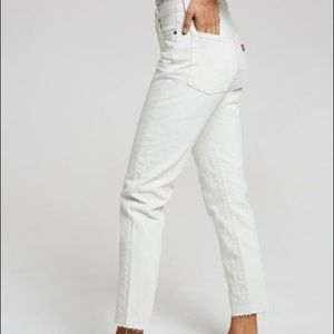 Levi's White/Cream Distressed Wedgies NWT Size 28